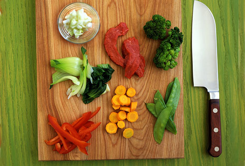 Chopped Veggies and Meat
