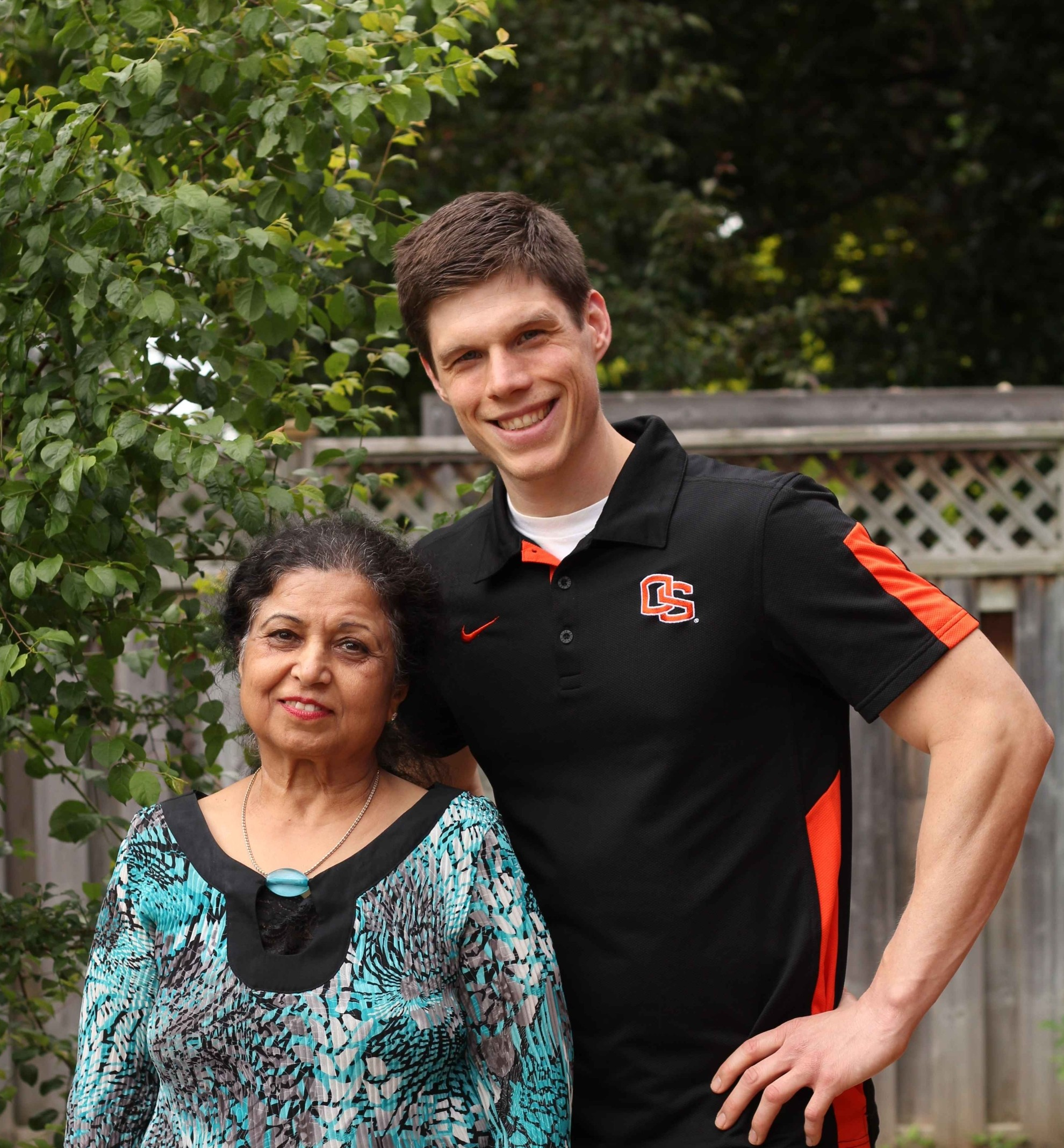 Picture of Burke and fitness success story Parvesh